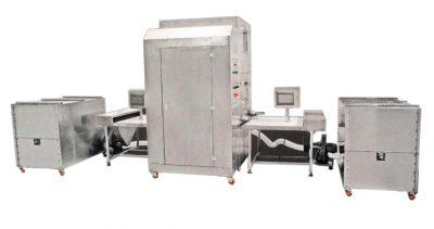 Máy nhồi lông vũ 4 đầu – Automatic down & Feather Filling machine